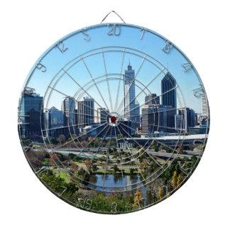 Skyline Perths Australien Dartscheibe