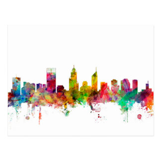 Skyline Perths Australien Postkarten