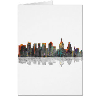 Skyline Philadelphias Pennsylvania Karte