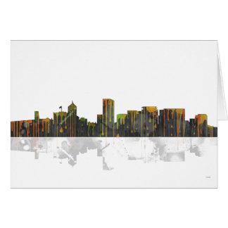 Skyline Portlands Oregan Karte