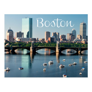 Skyline-Postkarte Bostons, Massachusetts - Boston- Postkarte