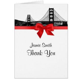 Skyline Sans Fran ätzten BW-Rot danken Ihnen #2 Karte