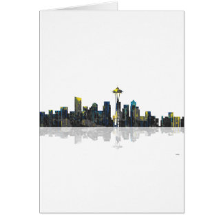 Skyline Seattles Washington Karte