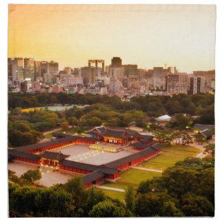 Skyline Seouls Südkorea Stoffserviette