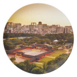 Skyline Seouls Südkorea Teller