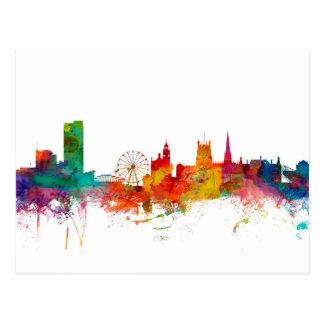 Skyline Sheffields England Postkarte