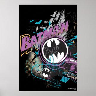 Skyline-Skizze Batmans Gotham Plakat