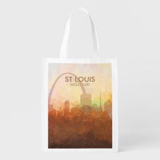 Skyline St. Louis, Missouri in den WOLKEN Wiederverwendbare Einkaufstasche