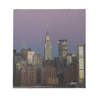 Skyline-Stadt Manhattan New York Notizblock