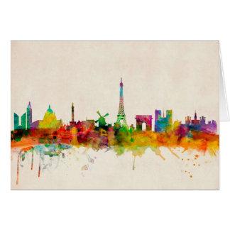 Skyline-Stadtbild Paris Frankreich Karte