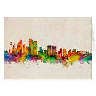 Skyline-Stadtbild Sydneys Australien Karte