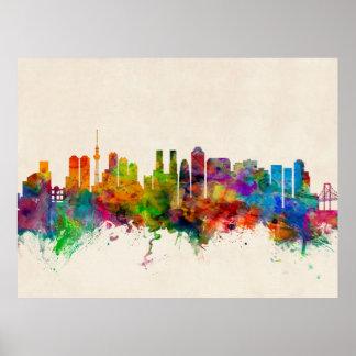 Skyline-Stadtbild Tokyos Japan Poster
