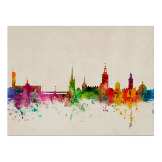 Skyline Stockholms Schweden Plakatdrucke