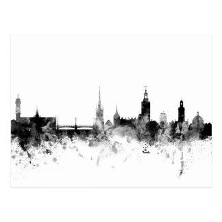 Skyline Stockholms Schweden Postkarte