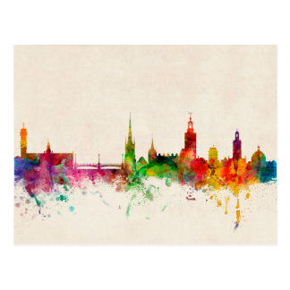 Skyline Stockholms Schweden Postkarten