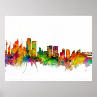 Skyline Sydneys Australien Poster