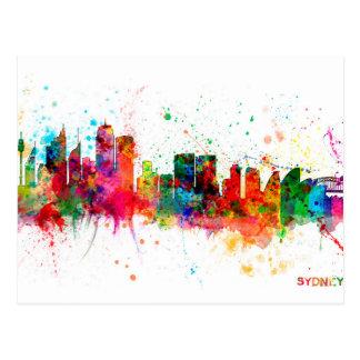 Skyline Sydneys Australien Postkarte