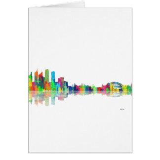 Skyline Sydneys NSW Karte