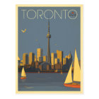 Skyline Torontos, Kanada | mit Segelbooten Postkarte