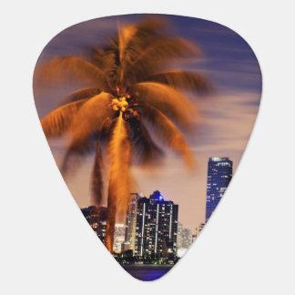 Skyline USA, Florida, Miami an der Dämmerung Plektrum