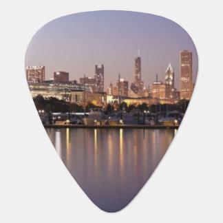Skyline USA, Illinois, Chicago an der Dämmerung Plektrum