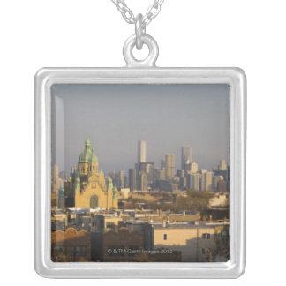 Skyline USA, Illinois, Chicago Versilberte Kette