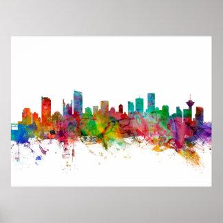 Skyline Vancouvers Kanada Plakatdrucke