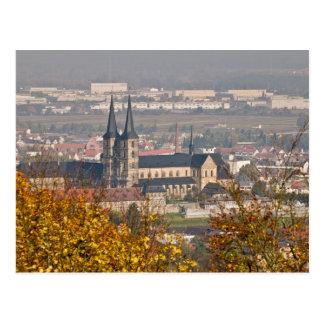 Skyline von Bamberg, Deutschland Postkarte