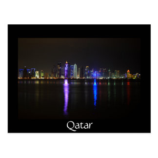 Skyline von Doha, Qatar an der Postkarten