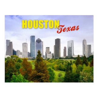 Skyline von Houston, Texas Postkarte