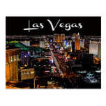 Skyline von Las Vegas, Nevada Kasino-Postkarte Postkarte