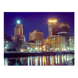 Skyline von Providence, Rhode Island Postkarte