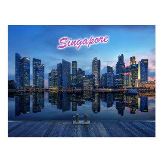 Skyline von Singapurs zentralem Geschäftsgebiet Postkarten