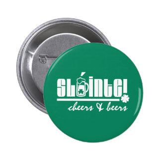 Sláinte Text-Spaß-St Patrick Tagesknöpfe Runder Button 5,1 Cm