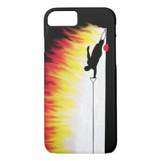 Slalom-Wasser-Skifahrer mit Flammen iPhone 7 Hülle