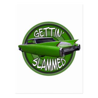slammed1960 Cadillac SchlüsselLimones erhalten Postkarte