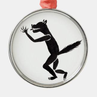 Slavering Werewolf Silbernes Ornament