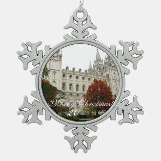 SLC Tempel-Zinn-Weihnachtsverzierung Schneeflocken Zinn-Ornament