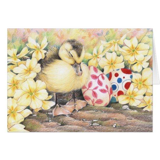 Sleeping Ducky Easter Karte