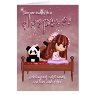 Sleepover-Einladungs-Karte Karte