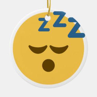 Sleepy Emoji Keramik Ornament