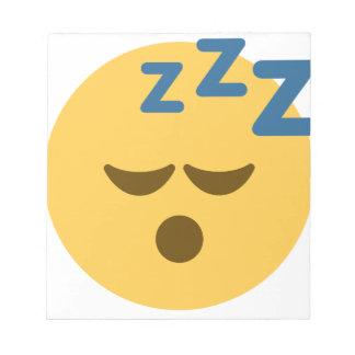 Sleepy Emoji Notizblock