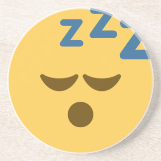 Sleepy Emoji Sandstein Untersetzer