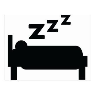 Sleepyhead zzz Schlafen Postkarte