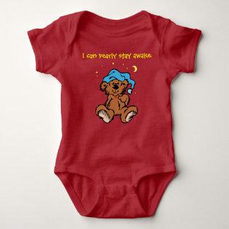Sleepytime Teddybär kann ich wacher Bearly Baby Strampler