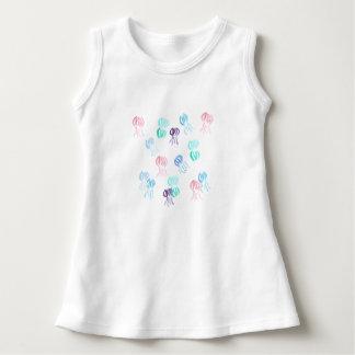 Sleeveless Kleid des Babys mit Aquarellquallen