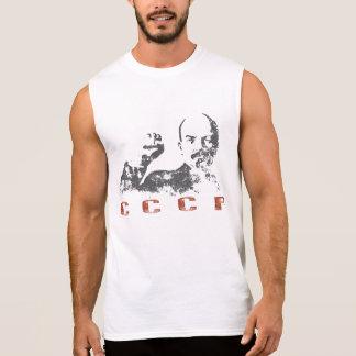 Sleeveless T-Stück mit Vintagem UDSSR-Druck von Ärmelloses Shirt