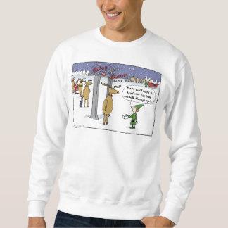 """""""Sleigh-Sicherheits-"""" Cartoon Sweatshirt"""