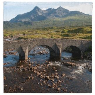 Sligachan Brücke, Insel von Skye, Schottland Stoffserviette