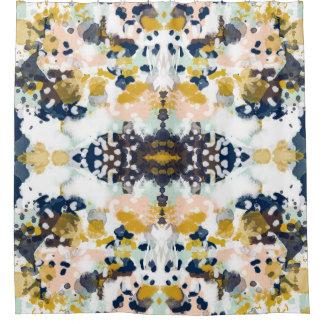 Sloane abstrakter paintned painterly Duschvorhang